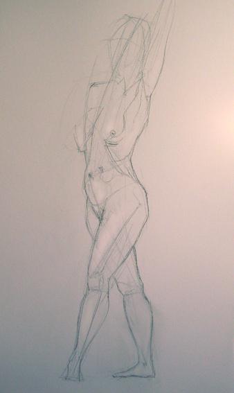 Boceto de mujer, estructura