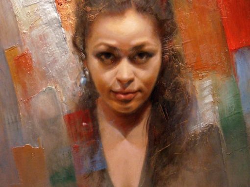 Portrait of Joyce (1), oil painting