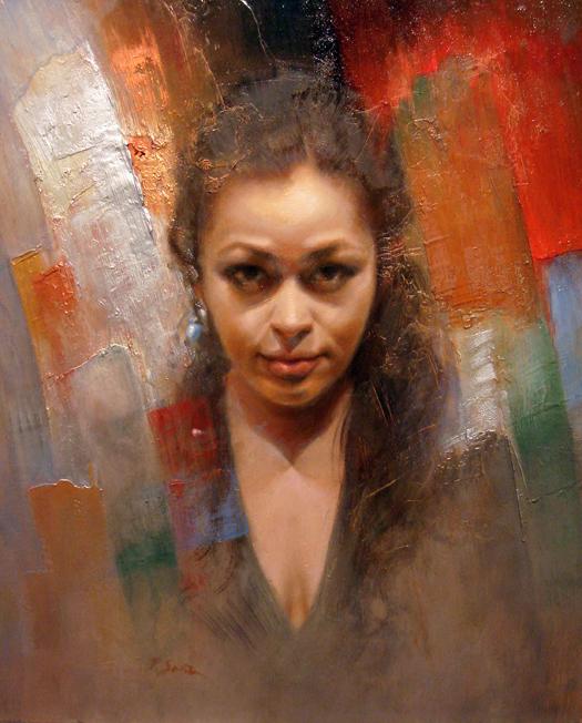 Portrait of Joyce (1), oil painting