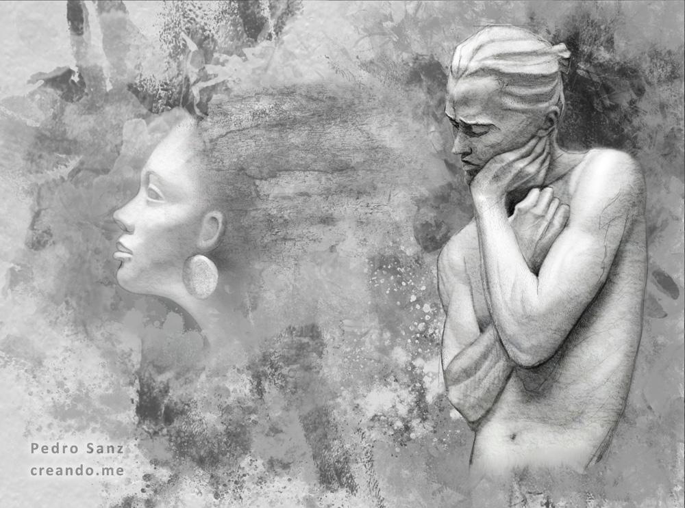 Textures and figures, sketch