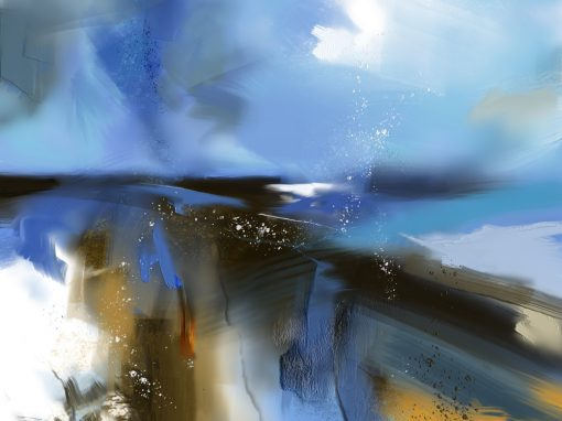 Blue landscape, after Peter Wileman