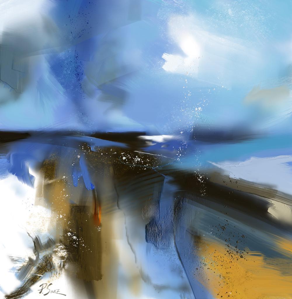 Blue landscape, after Peter Wileman