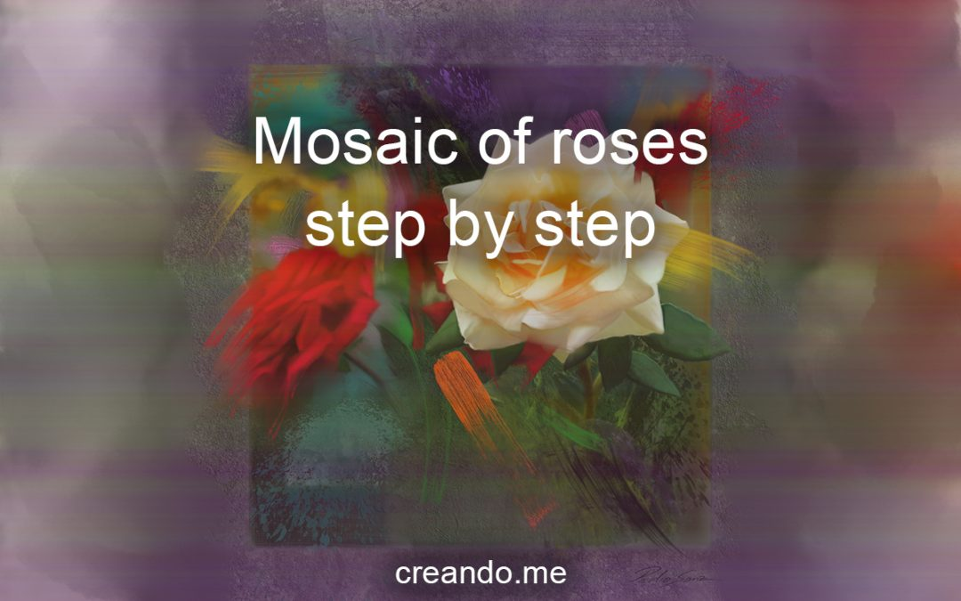 From ideas to execution, mosaic of roses step by step