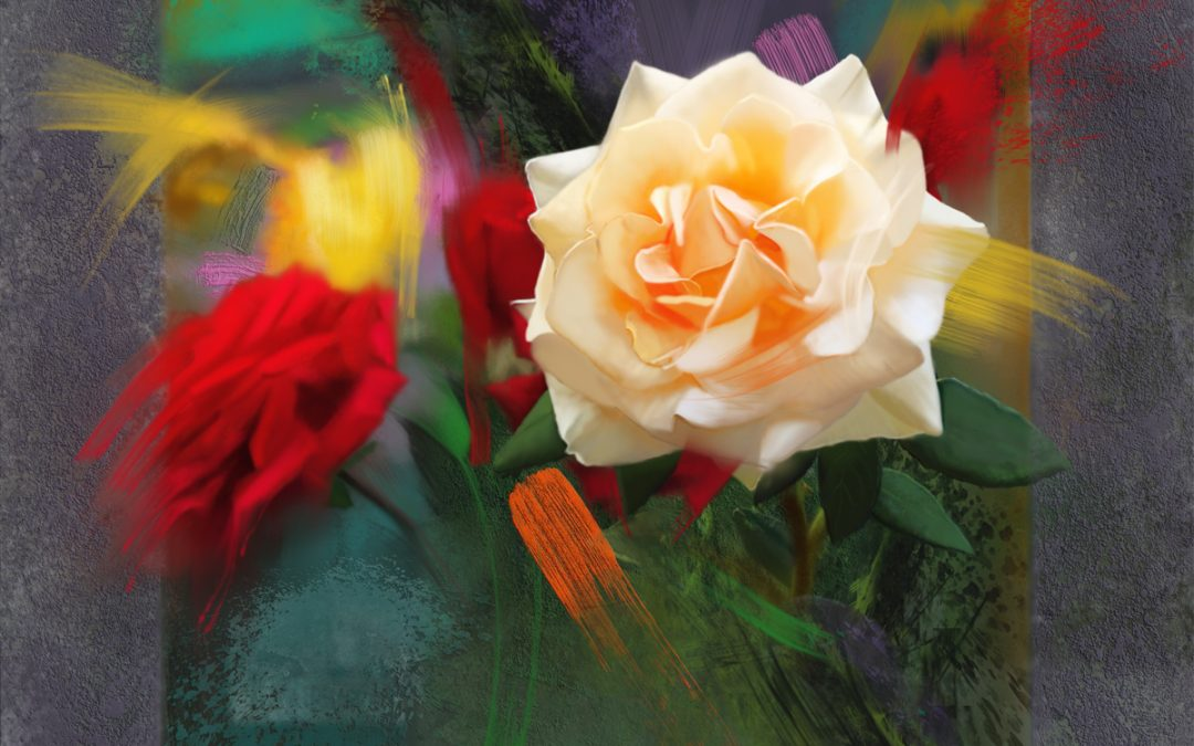 Roses, color mosaic