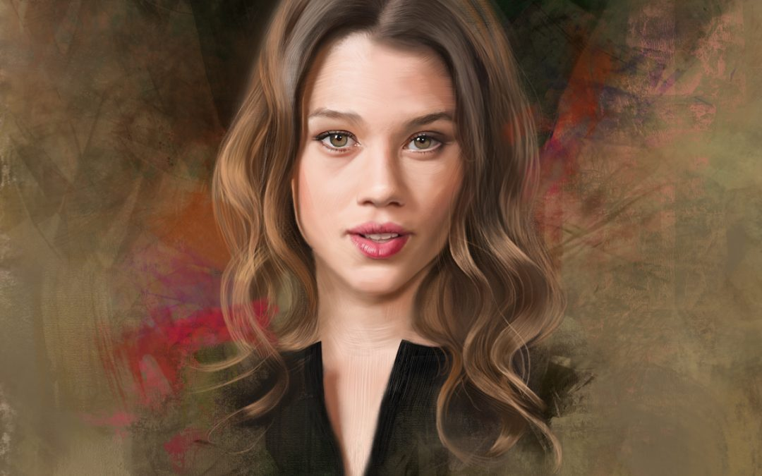 Portrait of Astrid, step by step