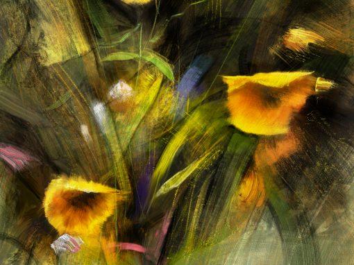 Floral sketch after Richard Schmid