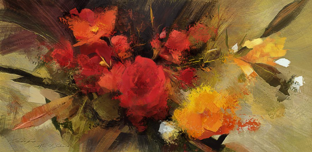 Roses study, after Richard Schmid